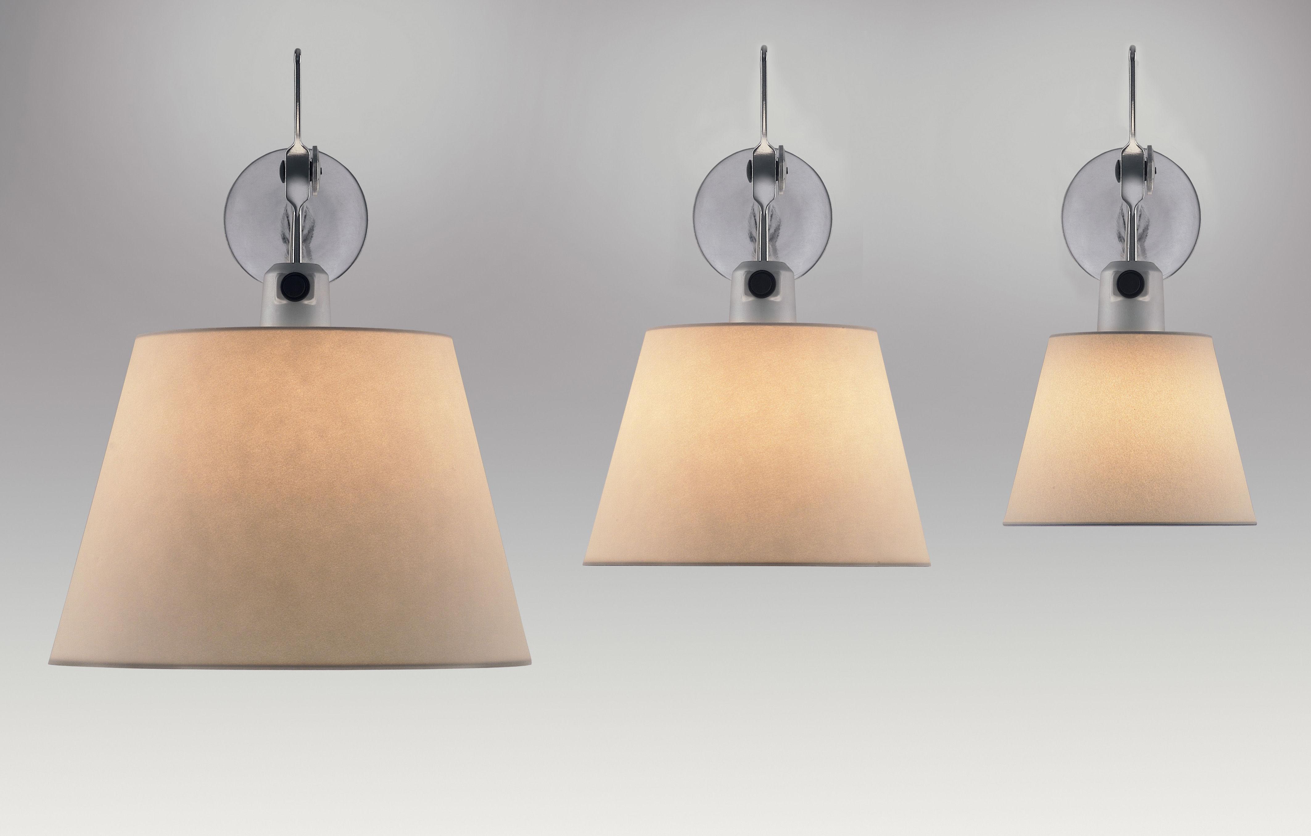 scopri applique tolomeo 32 cm satinato grigio di. Black Bedroom Furniture Sets. Home Design Ideas