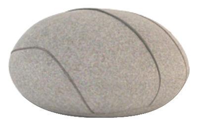 Möbel - Möbel für Teens - Hervé Livingstones Kissen Wolle / für den Inneneinsatz - 41 x 36 cm - Smarin - Hellgrau - 41 x 36 cm / H 23 cm - Polysilikon-Faser, Wolle