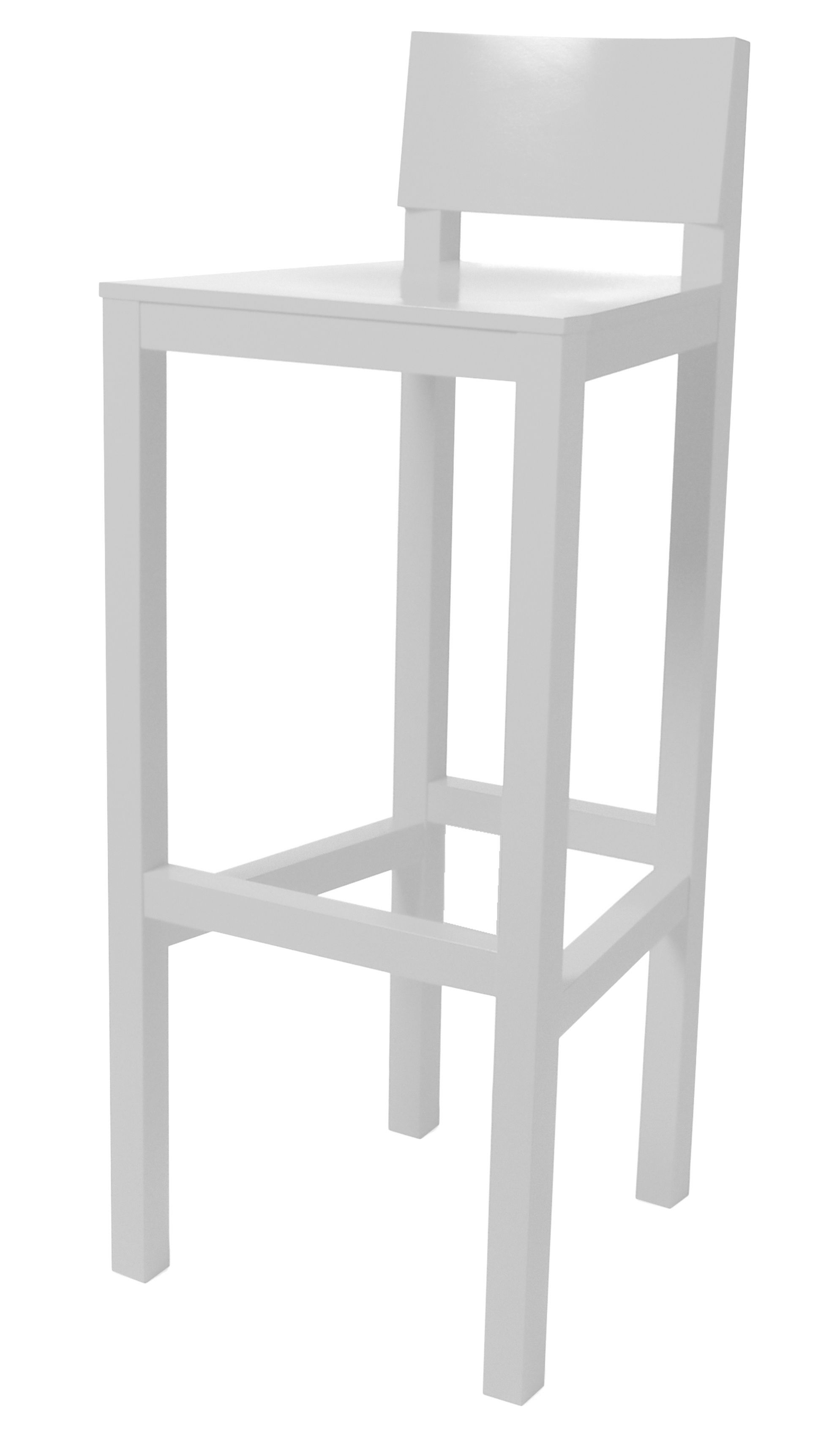 tabouret de bar avl h 80 cm bois blanc moooi. Black Bedroom Furniture Sets. Home Design Ideas