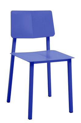 Chaise Rosalie - Hartô bleu réaliste en métal