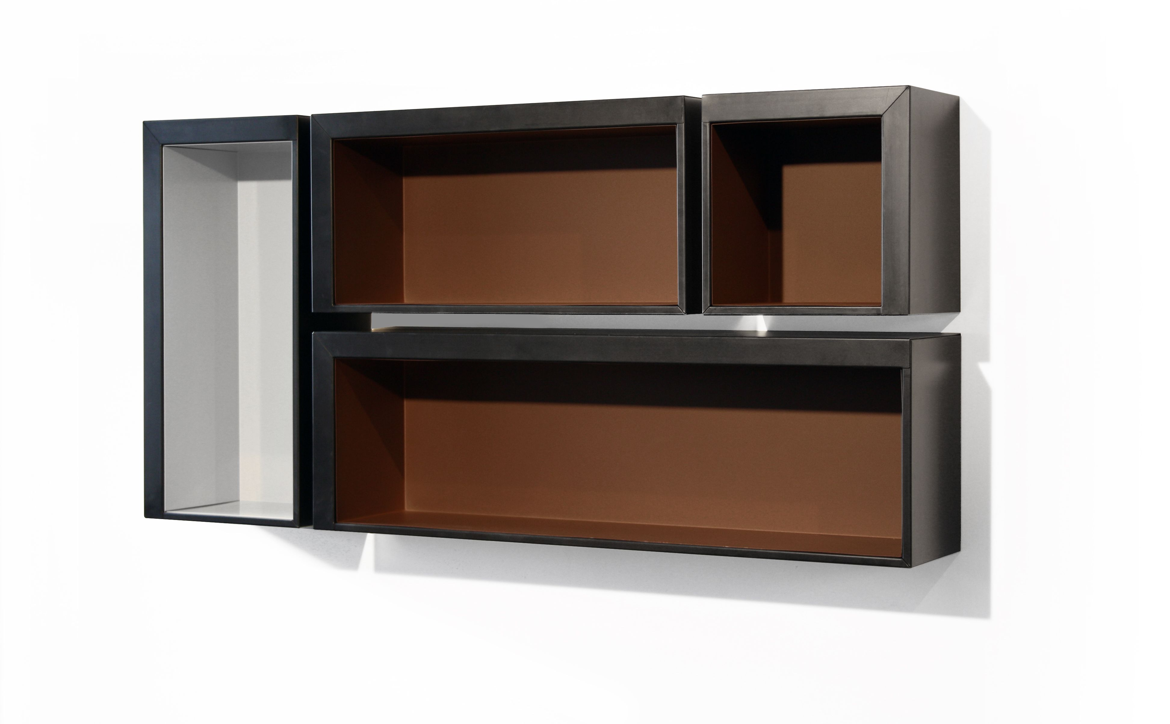 nina shelf 146 x 46 cm 146 x 30 cm black rust by zeus. Black Bedroom Furniture Sets. Home Design Ideas