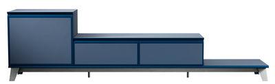 Mobilier - Commodes, buffets & armoires - Buffet Voltaire / Meuble TV - L 240 cm - Diesel with Moroso - Bleu - Acier, Bois mélaminé