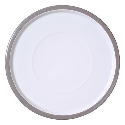 Assiette I Perfetti / Ø 31 cm - Variopinte gris perle en métal