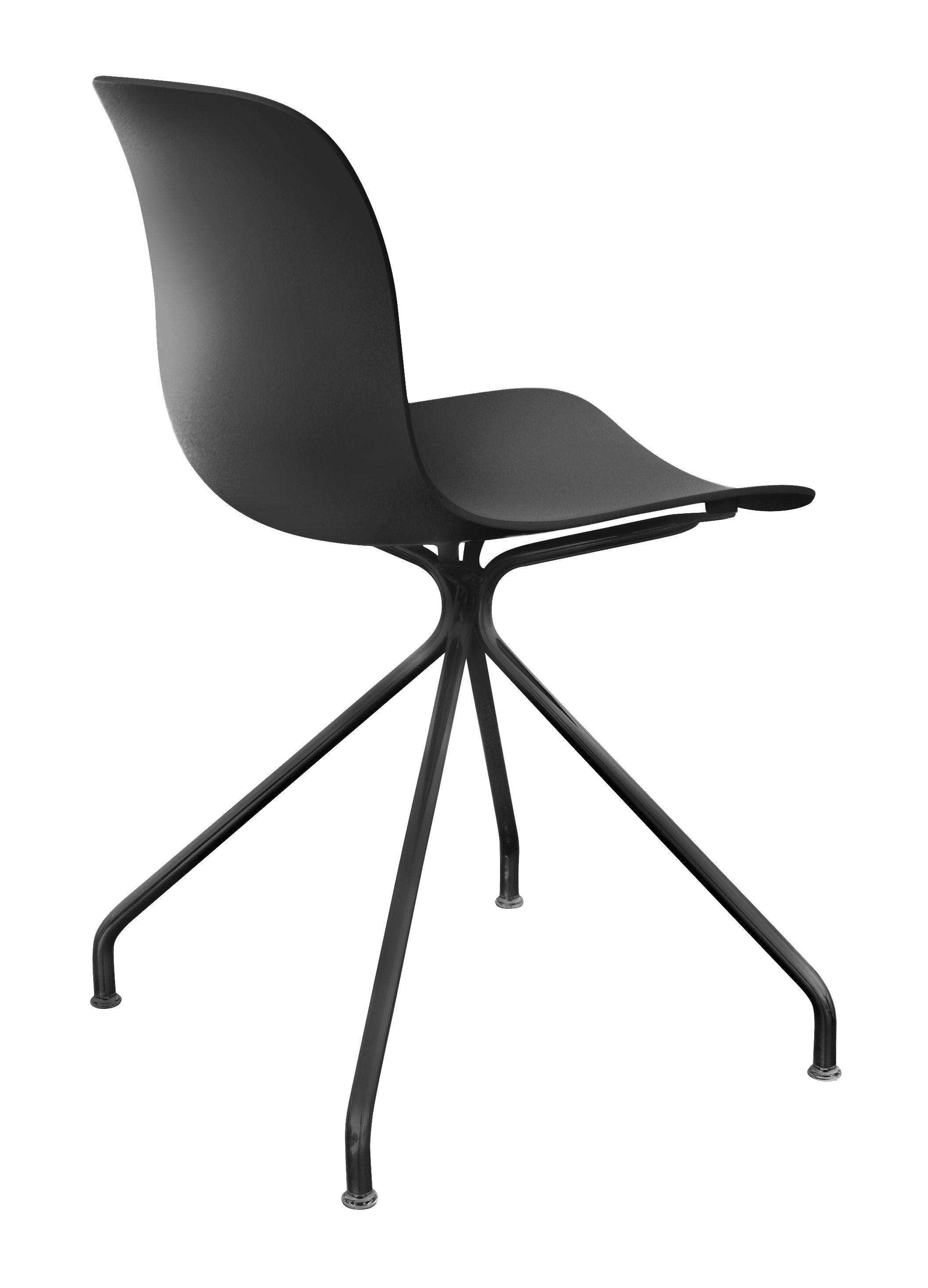 chaise troy plastique 4 branches m tal noir magis. Black Bedroom Furniture Sets. Home Design Ideas