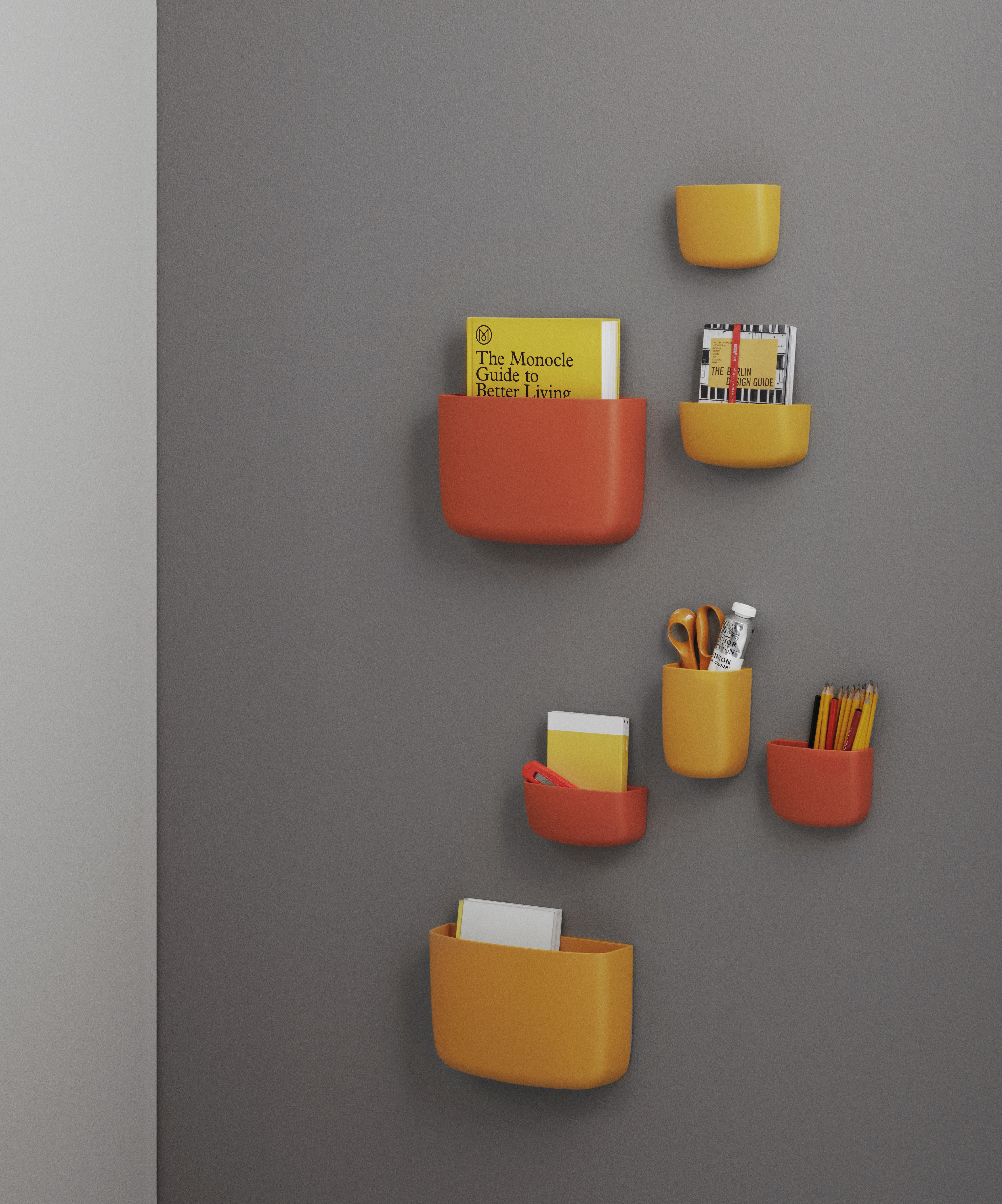 pocket 2 wall storage golden yellow by normann copenhagen. Black Bedroom Furniture Sets. Home Design Ideas