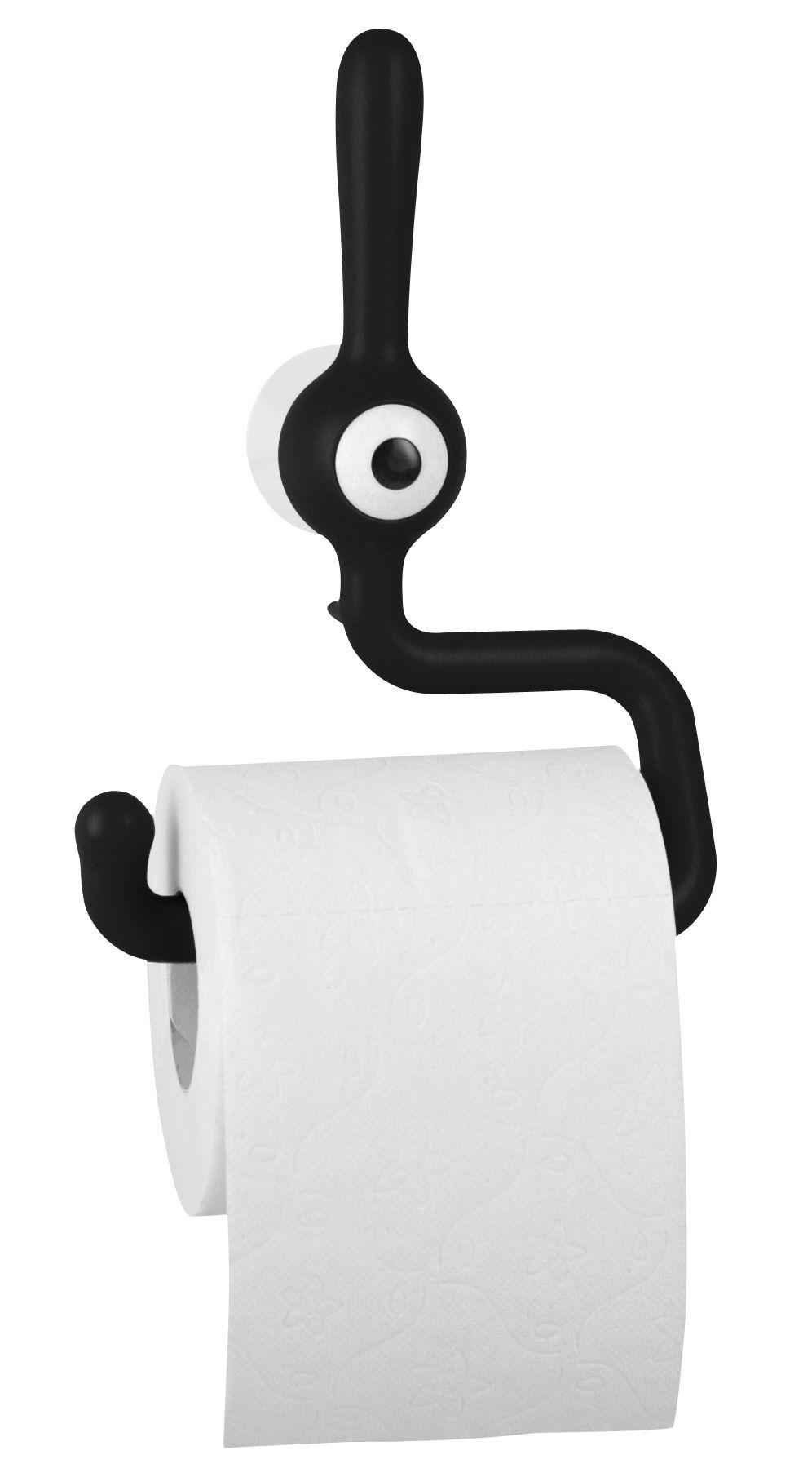 d rouleur de papier toilette toq noir koziol made in design. Black Bedroom Furniture Sets. Home Design Ideas