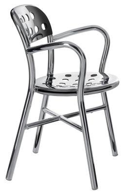 Möbel - Stühle  - Pipe Stapelbarer Sessel Variante poliertes Aluminium - Magis - Poliertes Aluminium - polierter Stahl, poliertes Aluminium