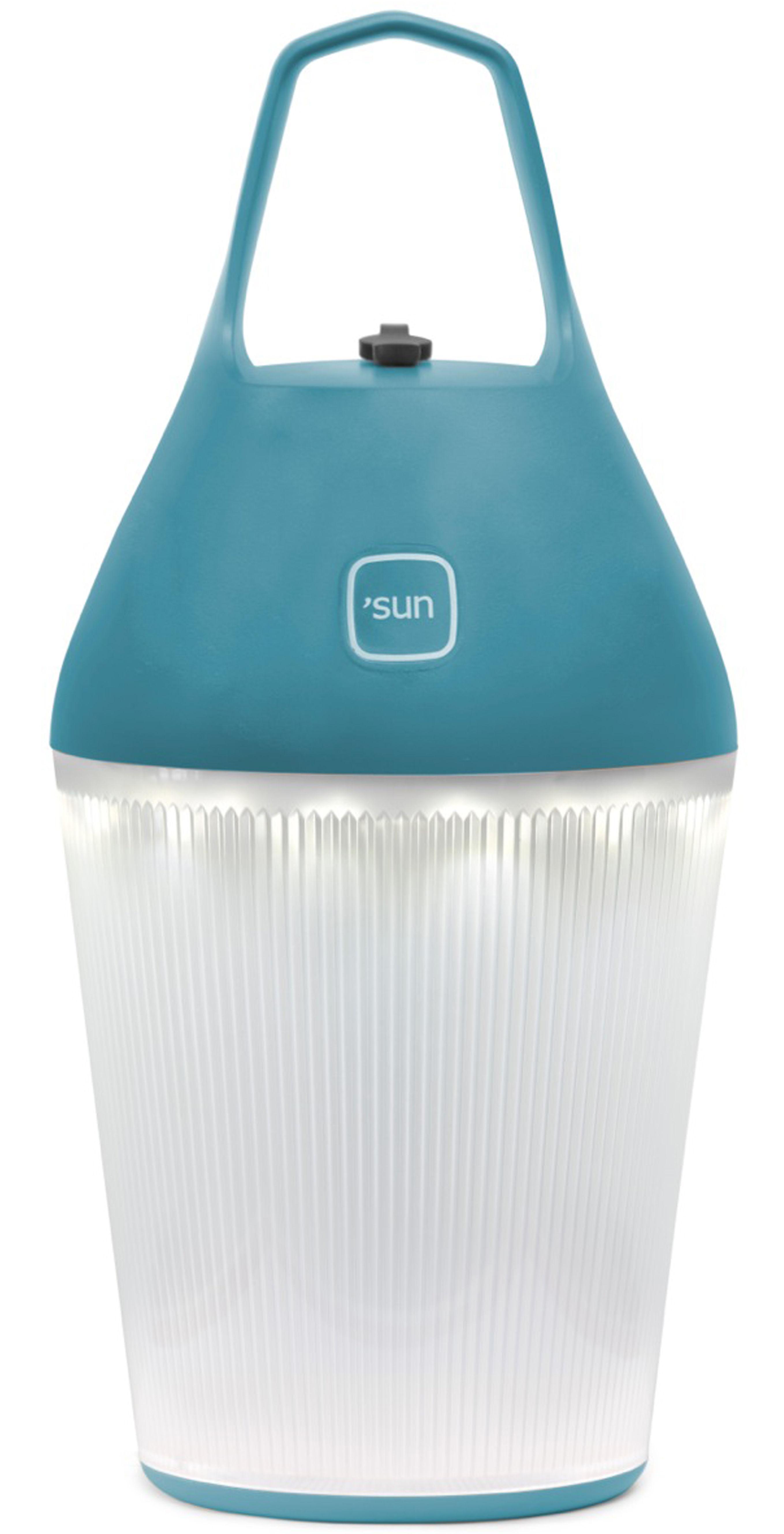 lampe solaire nomad sans fil recharge secteur ou solaire bleu o 39 sun. Black Bedroom Furniture Sets. Home Design Ideas