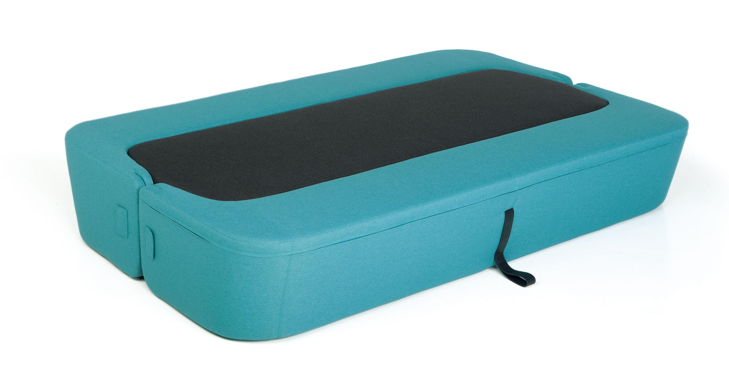 canap convertible revolve 3 places l 210 cm turquoise assise anthracite prostoria ltd. Black Bedroom Furniture Sets. Home Design Ideas