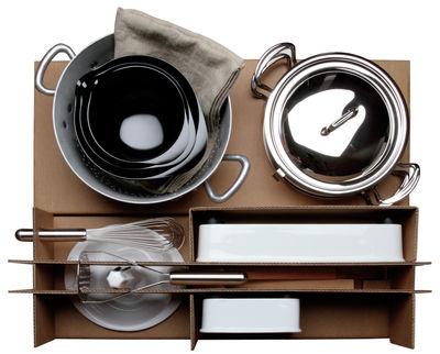 Set ustensiles de cuisine Malle W. Trousseau n°3 Contenants 16 pièces pour la préparation Malle W. Trousseau carton en métal