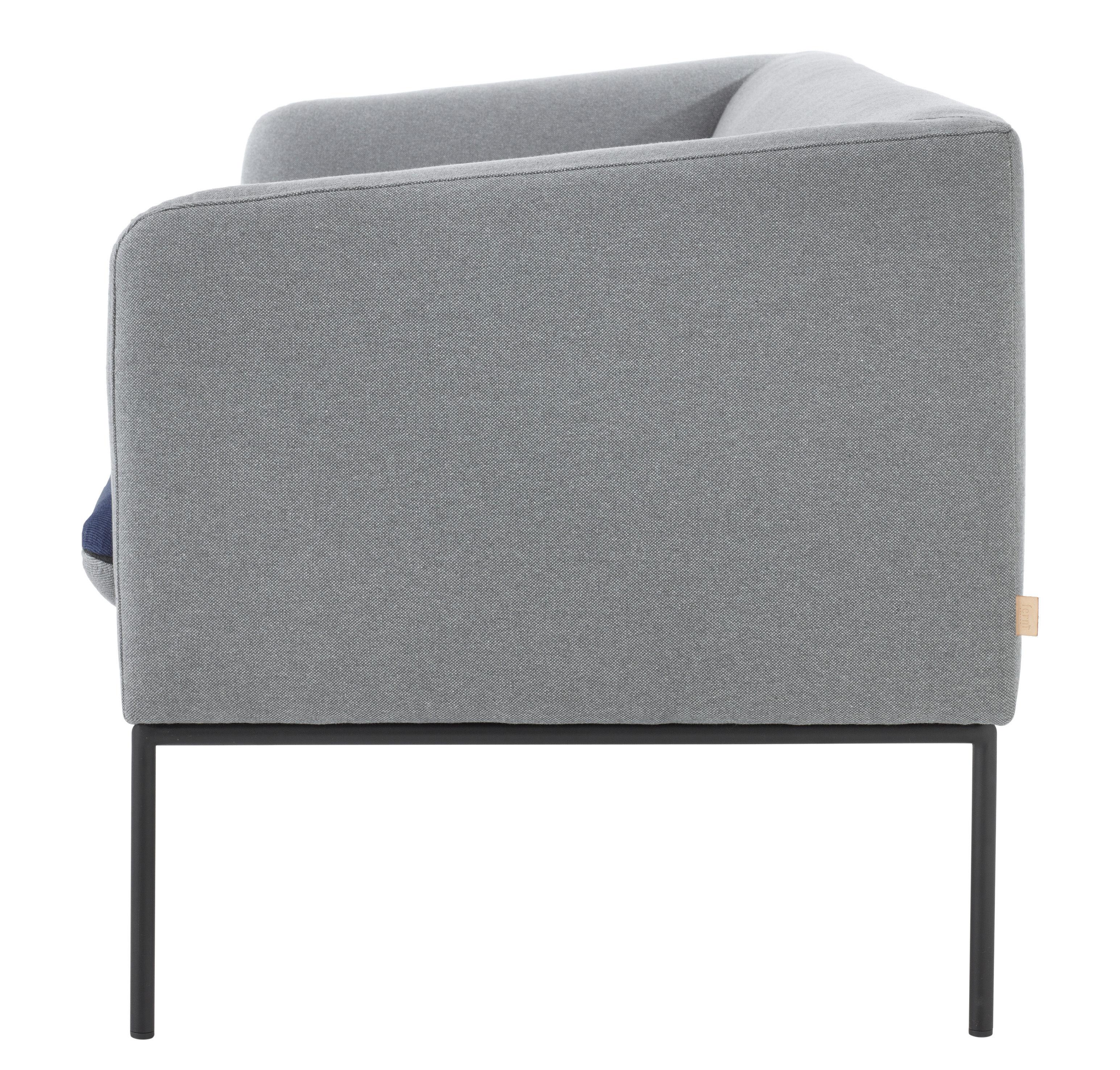 canap droit turn l 160 cm 2 places gris clair bleu. Black Bedroom Furniture Sets. Home Design Ideas