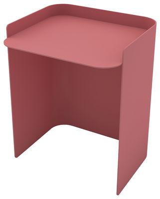 Table d´appoint Flor / Medium - H 42 cm - Matière Grise vieux rose en métal