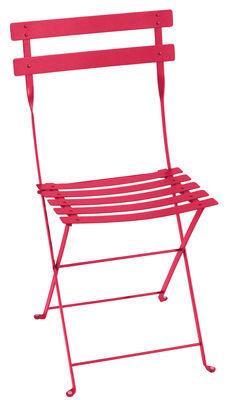 Chaise pliante Bistro / Métal - Fermob rose praline en métal