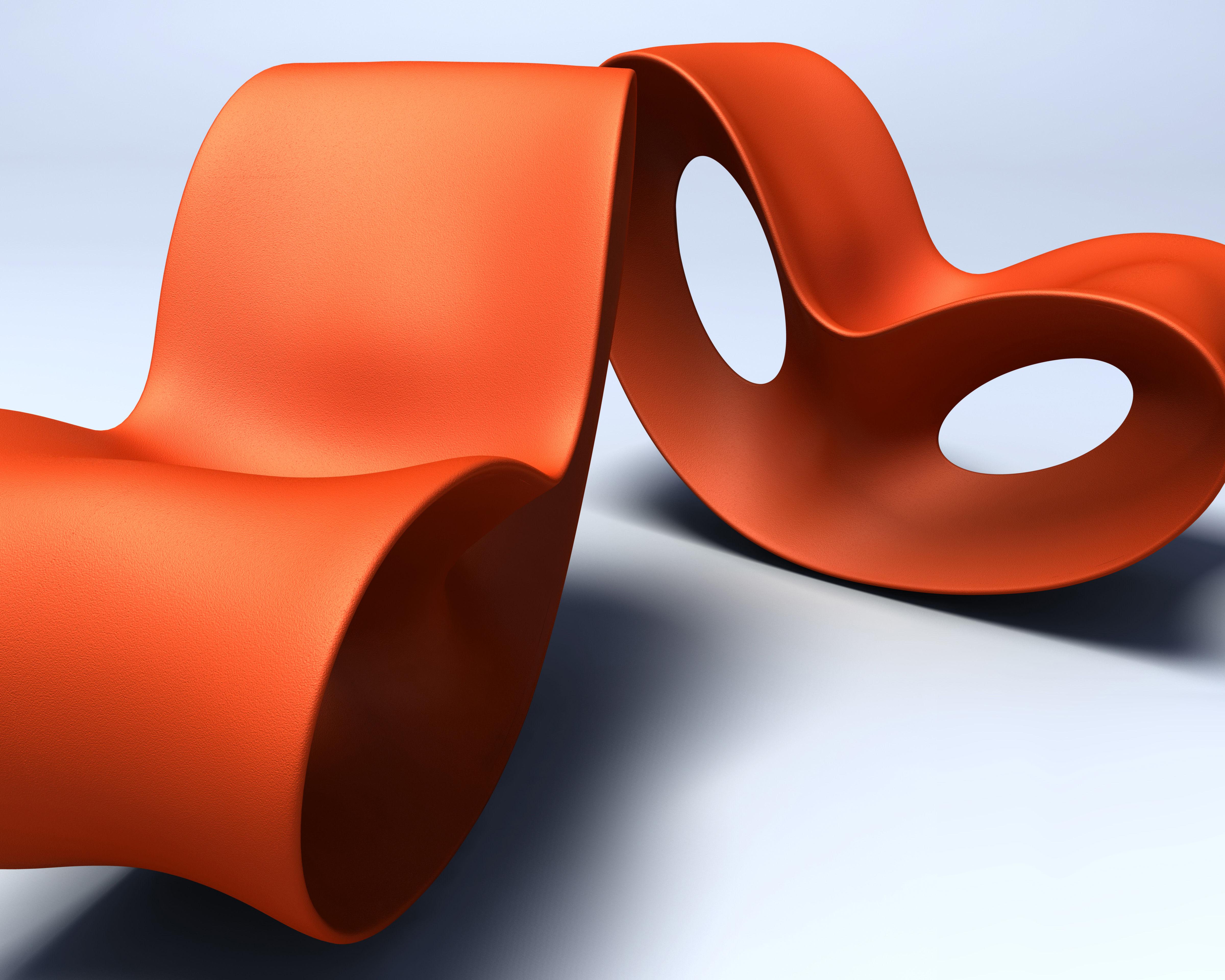 Voido rocking chair orange by magis for Magis voido