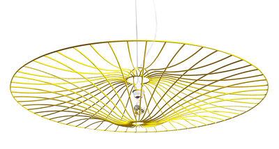 Suspension Ombrelle / Ø 100 cm - La Corbeille blanc,jaune en métal