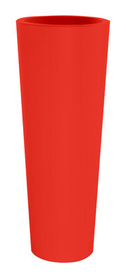 Pot de fleurs New Pot High H 90 cm - Serralunga rouge en matière plastique