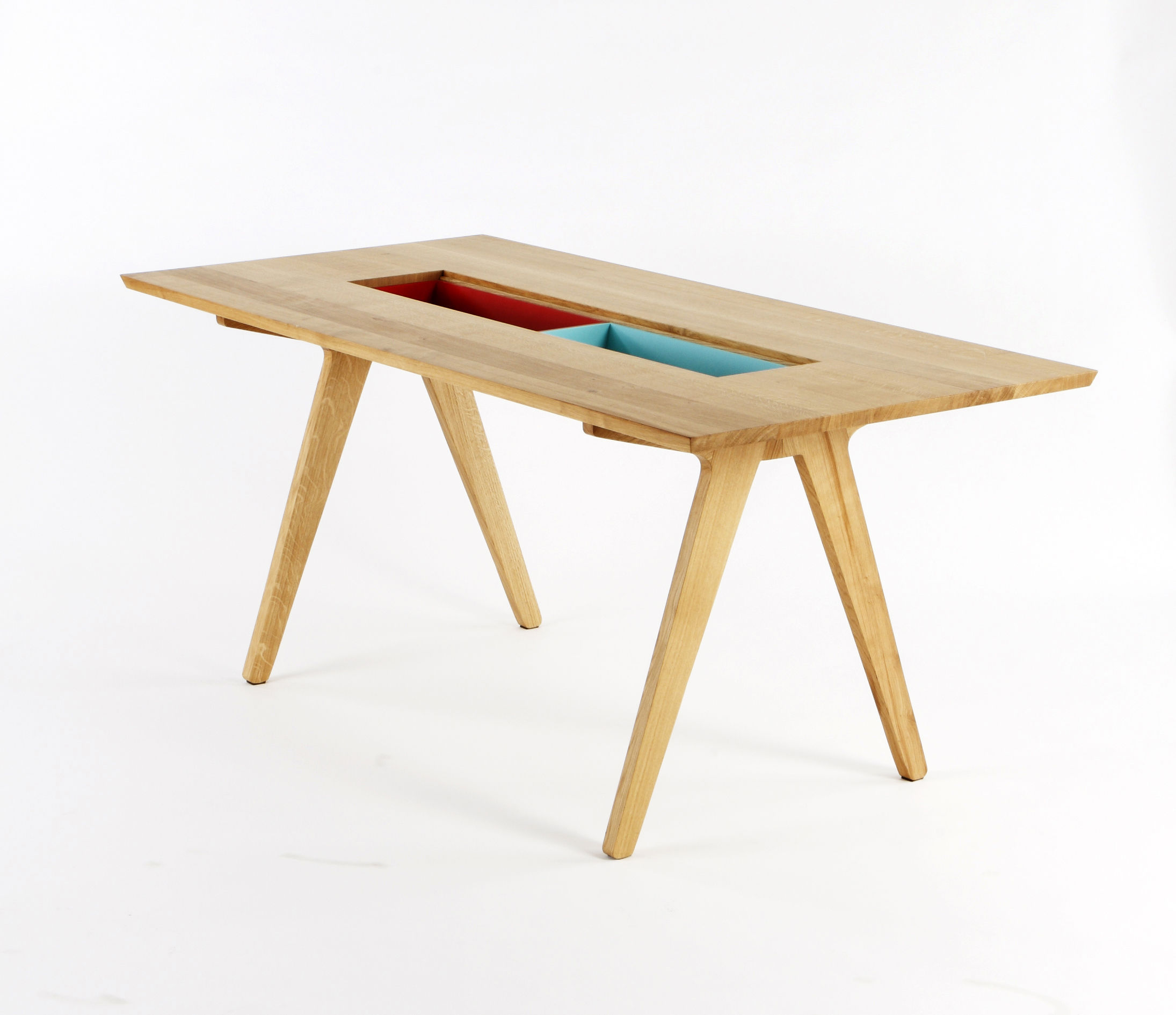 Table remix 8 personnes l 180 cm ch ne compartiments - Table 8 personne ...