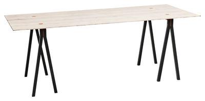 4-Dots Tisch / 85 x 160 cm - Nomess - Schwarz,Holz hell