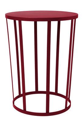 Table d'appoint Hollo Tabouret Ø 35 x H 44 cm Petite Friture bordeaux en métal