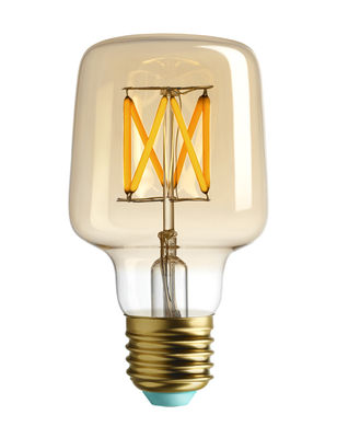 Luminaire - Ampoules et accessoires - Ampoule LED filaments E27 Wilbur / 4.5W (29W) - 315 Lumen - Plumen - Doré / 315 Lumen - Verre