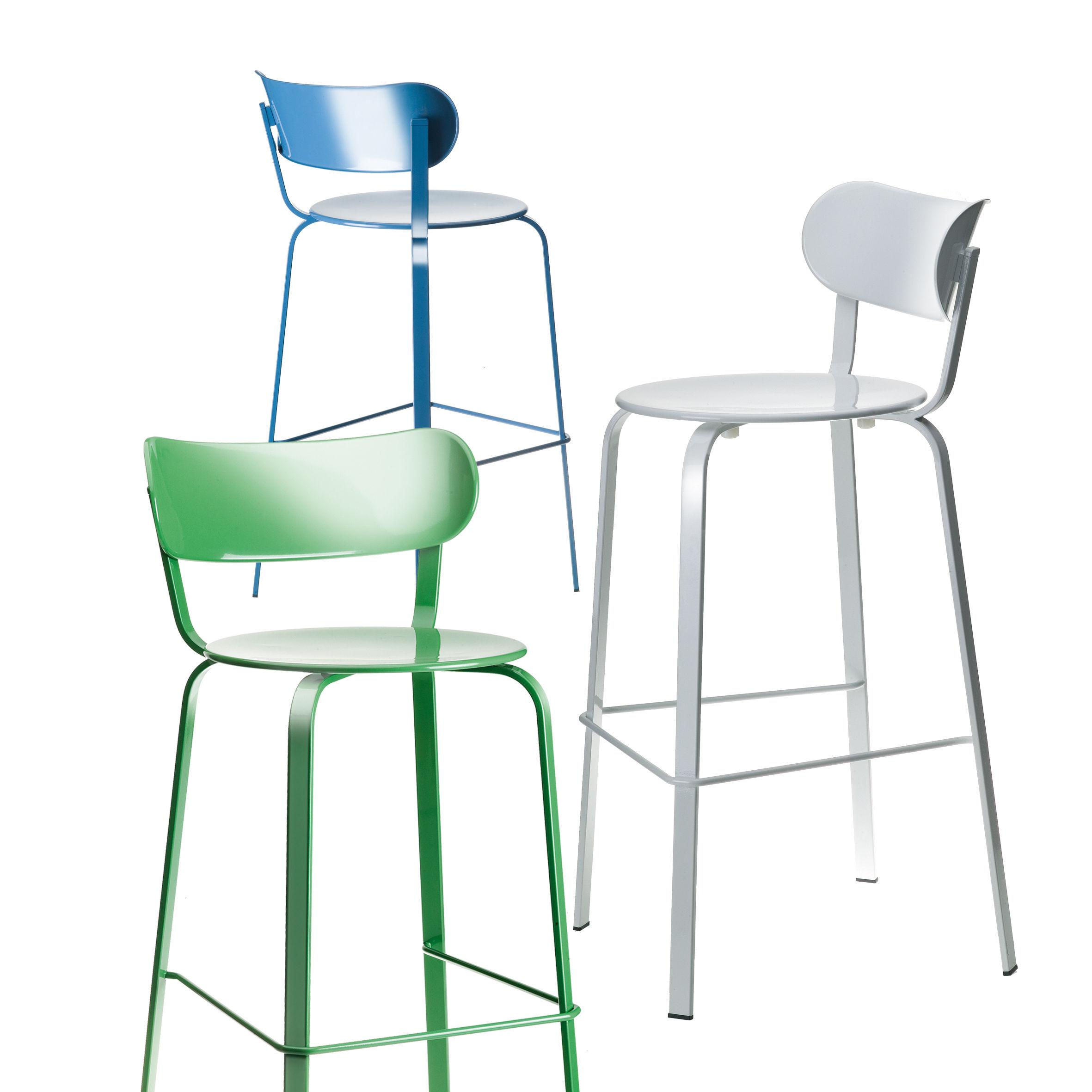 Stil Bar Chair H 75 Cm Metal Black Lacquered Metal By