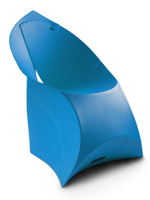 Poltrona bambini Flux Chair - pieghevole di Flux - Blu - Materiale plastico