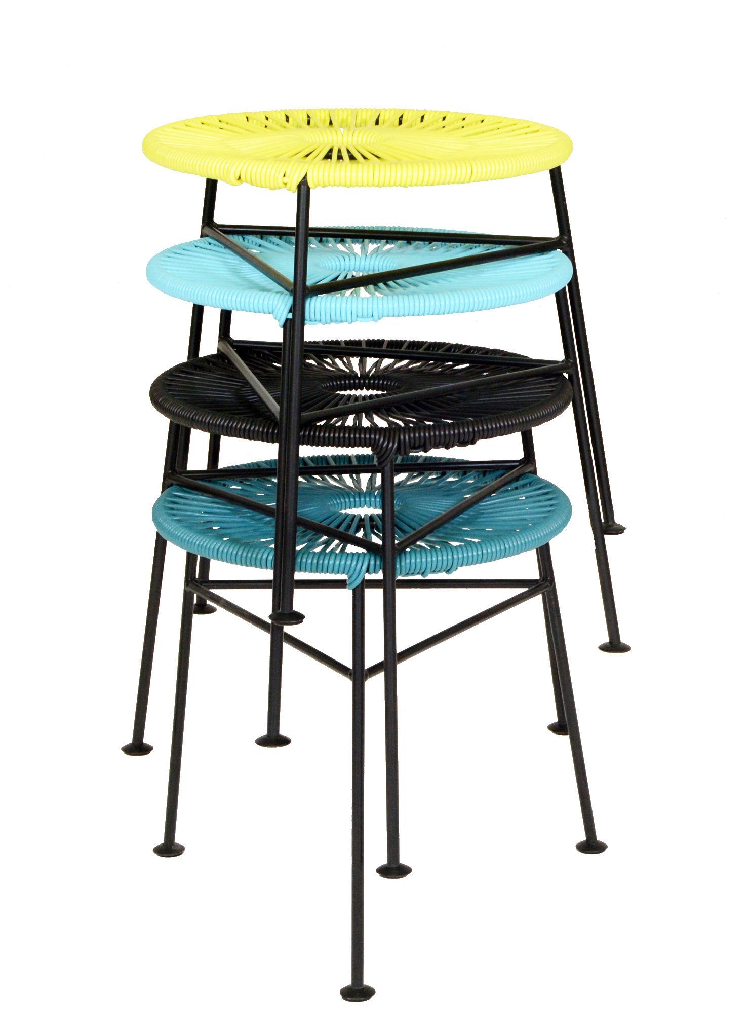 tabouret empilable centro plastique tress turquoise ok design pour sentou edition. Black Bedroom Furniture Sets. Home Design Ideas