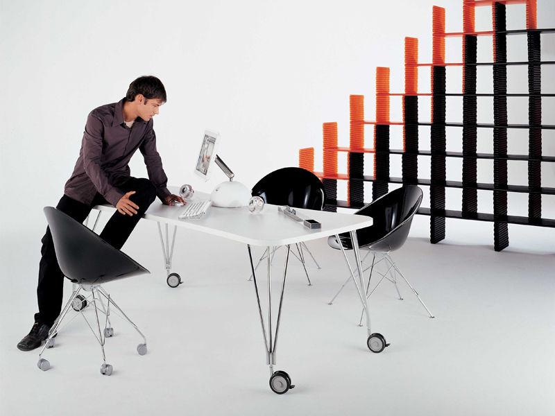 Table max bureau l 190 cm blanc kartell for Bureau kartell