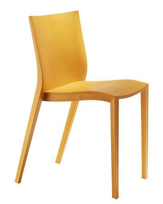 Chaise empilable Slick slick by Philippe Starck - XO orange en matière plastique