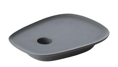 Déco - Bougeoirs, photophores - Bougeoir Float / Fonte d'aluminium - Muuto - Gris anthracite - Fonte d'aluminium