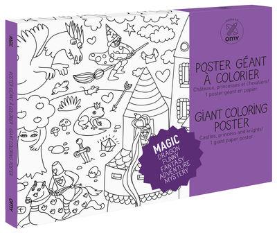 Déco - Pour les enfants - Poster à colorier Magic / 100 x 70 cm - OMY Design & Play - Magic - Papier recyclé