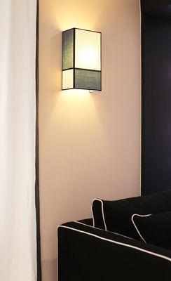 applique radieuse large non lectrifi e h 36 cm ecru bleu ganses noires maison sarah. Black Bedroom Furniture Sets. Home Design Ideas