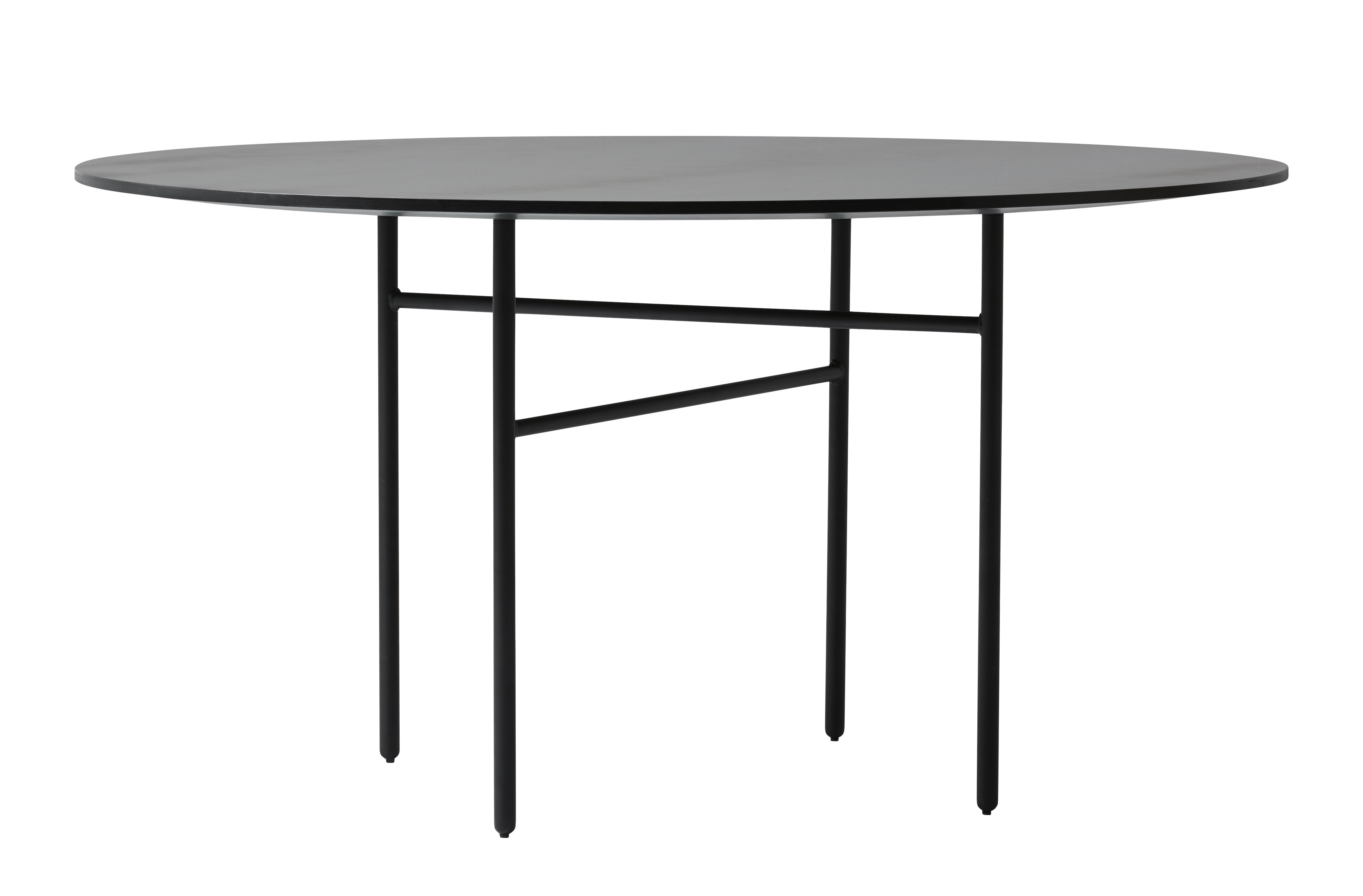table snaregade ronde 140 cm noir menu. Black Bedroom Furniture Sets. Home Design Ideas