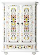Armadio Altdeutsche - / Dipinto a mano di Moooi - Bianco,Multicolore - Legno