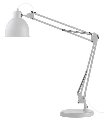 lampe de table industry bras articul blanc mat c ble blanc frandsen. Black Bedroom Furniture Sets. Home Design Ideas