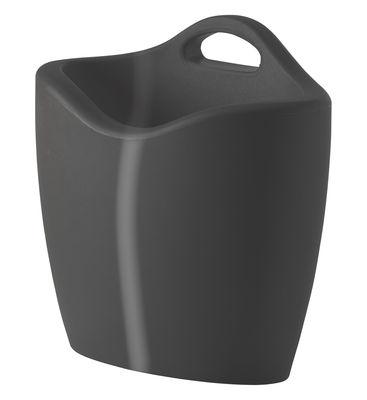 Porte-revues Mag version laquée - Slide laqué gris en matière plastique