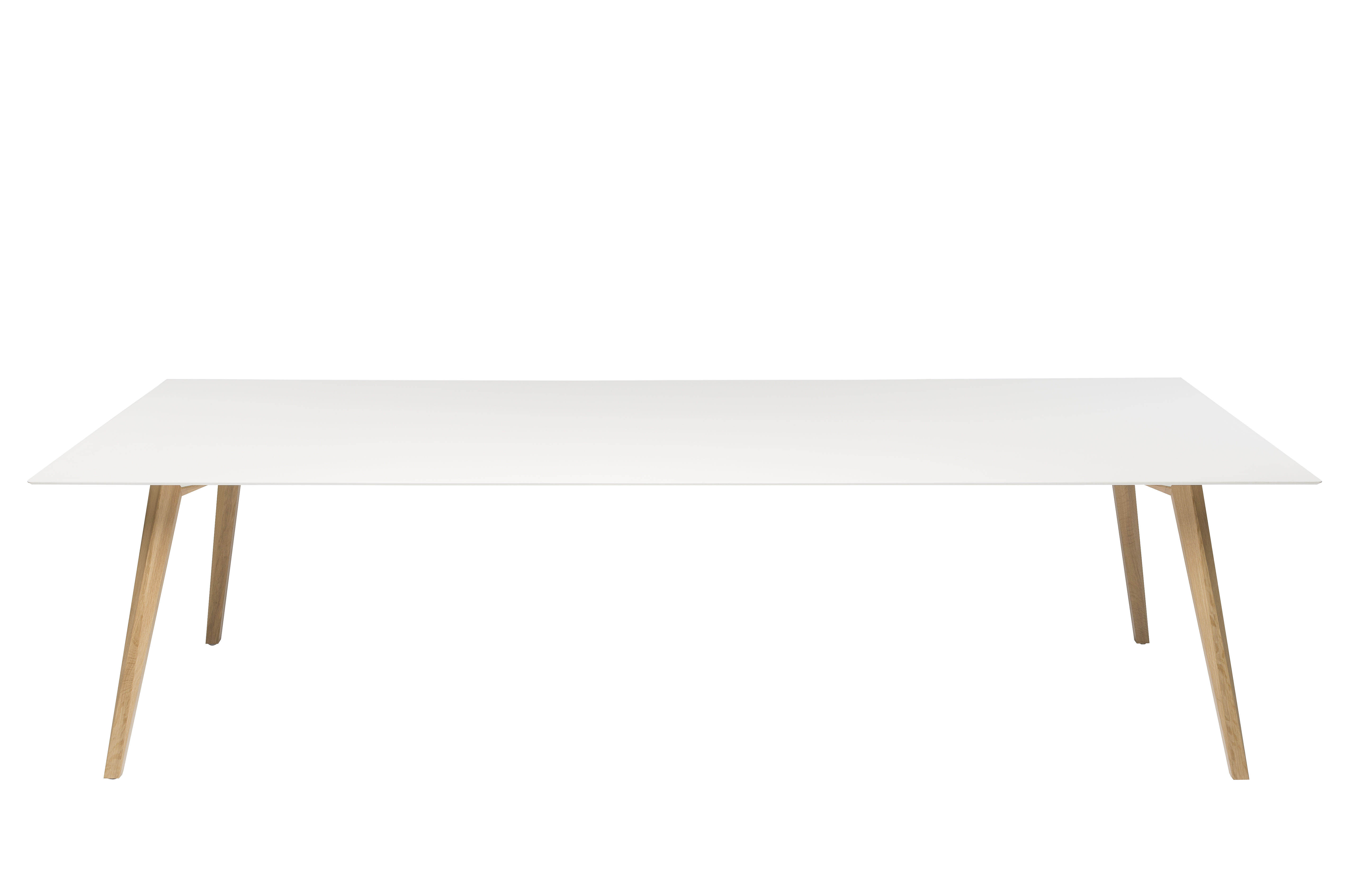 Table bevel bureau 200 x 100 cm pieds bois blanc for Table bureau bois