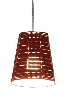 Foto Sospensione Null Vector Beta - LED / Ø 13 x H 15 cm di Artemide - Arancione - Metallo