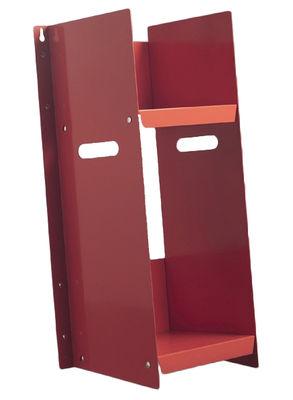Bibliothèque Livorno - Danese rouge en métal