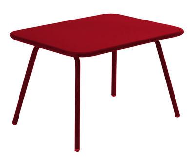 Tavolo bimbi Luxembourg kid - 75 x 55 cm di Fermob - Pepper - Metallo