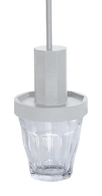 Suspension Picardie / Verre Duralex - 5.5 Designers - Iconic Serie - Designerbox transparent,gris clair en verre