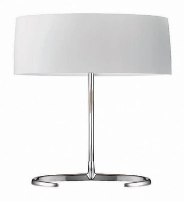 Lighting - Table Lamps - Esa Piccola Table lamp by Foscarini - White / H 30 cm - Blown glass, Polished aluminium