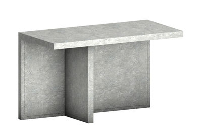Console Atrium Meteorite / Bureau - Simili-ciment - L 170 x H 72 cm - Zeus gris en pierre
