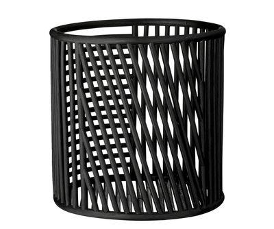 Panier Motus / H 32 x Ø 32 cm - Rotin - AYTM noir en rotin & fibres