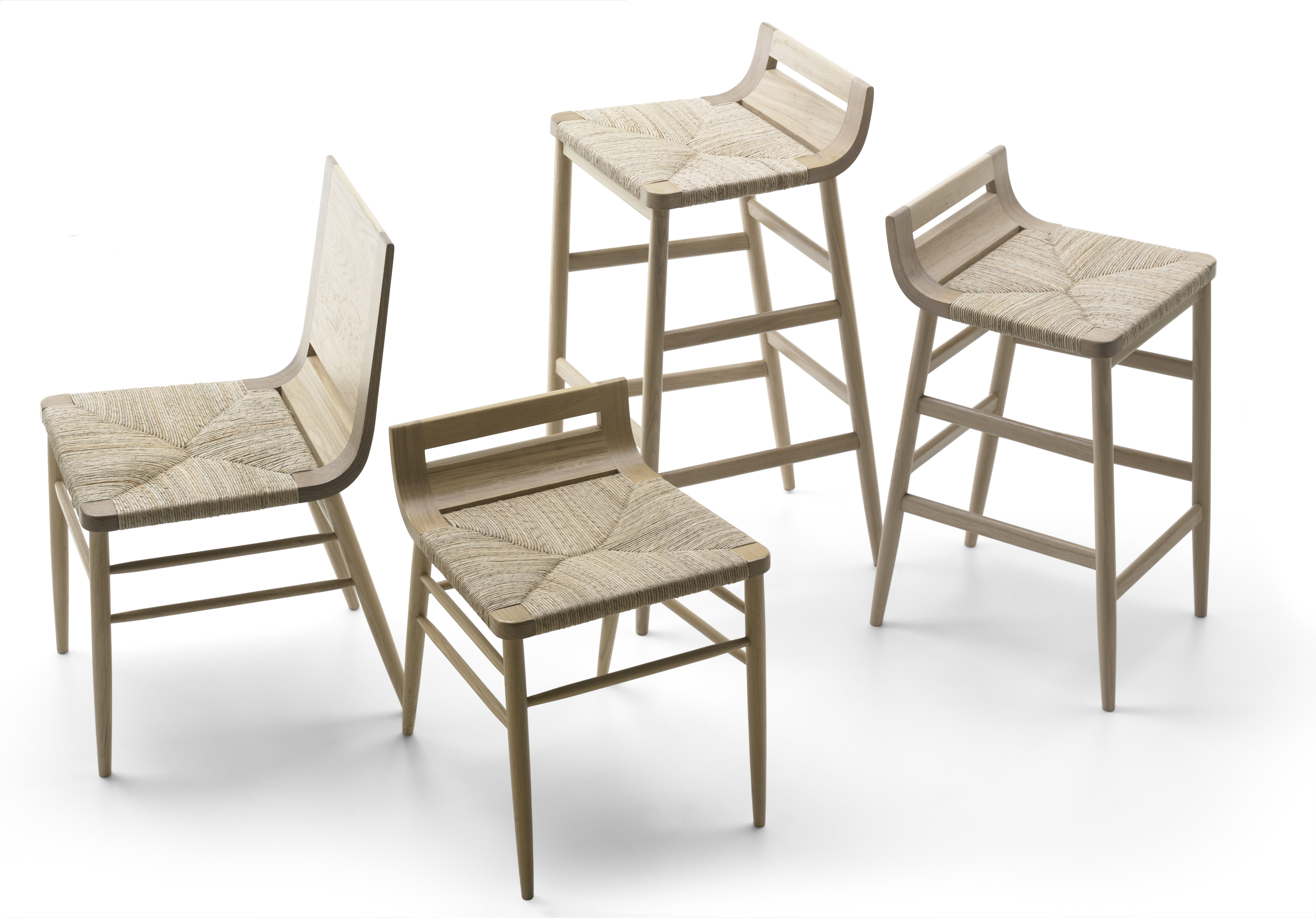 tabouret de bar kimua h 80 cm bois assise paille ch ne naturel alki. Black Bedroom Furniture Sets. Home Design Ideas