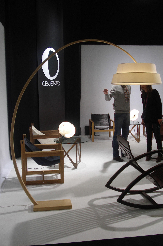 abat jour photo pour lampadaire nuala blanc cru objekto. Black Bedroom Furniture Sets. Home Design Ideas