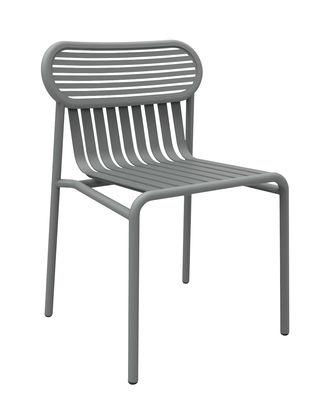 Chaise Week-end / Aluminium - Petite Friture gris en métal