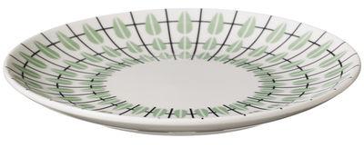 Assiette à dessert Olivia Ø 20 cm Super Living blanc,noir,vert menthe en céramique