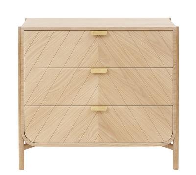 Commode Marius / L 100 x H 90 cm - Hartô chêne naturel,laiton en bois