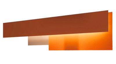 Lighting - Wall lamps - Fields 2 Wall light by Foscarini - Orange / red - Methacrylate